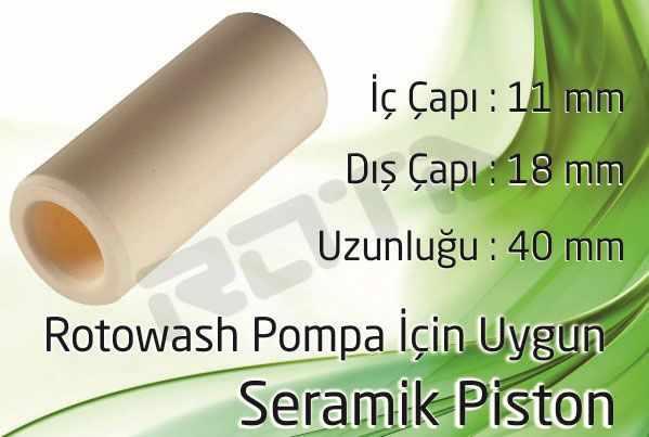 rotowash pompa seramik piston - Yıkama Pompası Seramik Piston